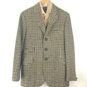 Vintage 1960's Harris Tweed Sport Coat Mens 36R